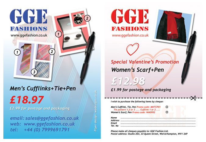Two sided A4 leaflet